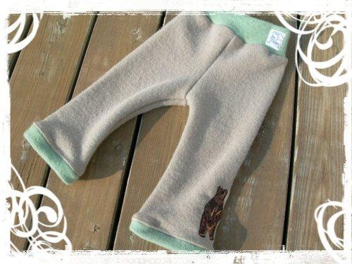 wool interlock pants .brown bear.