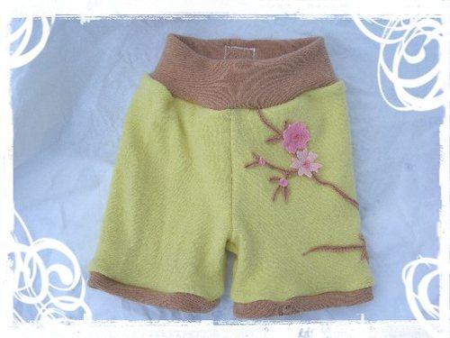 Cherry Blossom Wool Shorts